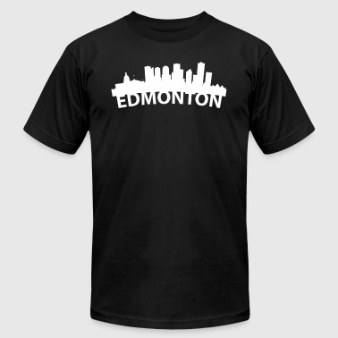 Arc Skyline Of Edmonton Alberta Canada - Men's Fine Jersey T-Shirt