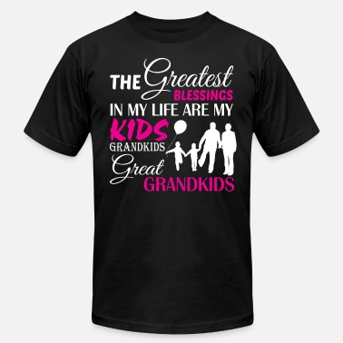 Grandkids Are My Life My Life Are My Kids Grandkids T Shirt - Men's Fine Jersey T-Shirt