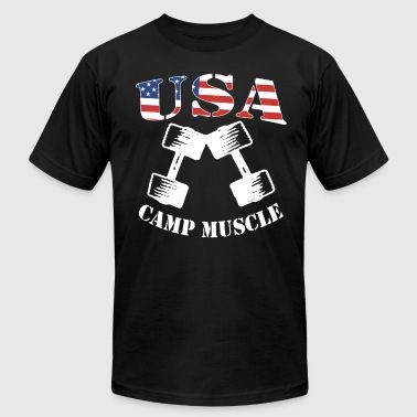 Camp Muscle Bodybuilding New CAMP MUSCLE USA frien - Men's Fine Jersey T-Shirt