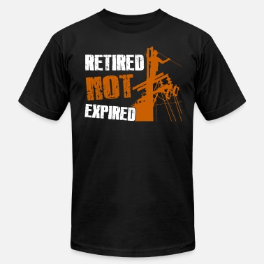 Lineman Retired Retired Lineman Not Expired Shirt - Men's Fine Jersey T-Shirt