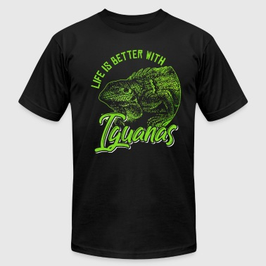 Life is better with iguanas - Men's Fine Jersey T-Shirt