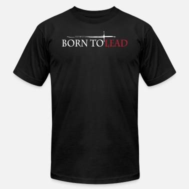 Lead BORN TO LEAD Black - Men's Fine Jersey T-Shirt