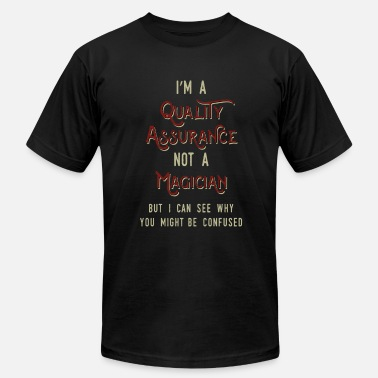 Im Confused Cool & Confusing Tshirt Design im a quality assurance - Men's Fine Jersey T-Shirt