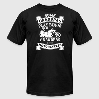 Motorcycle Motocycle Real Grandpas Ride Motorcycles - Biker Motocycle - Men's Fine Jersey T-Shirt