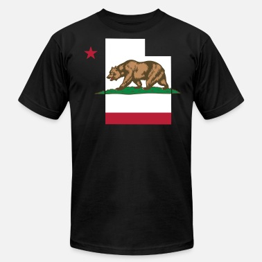 California Flag Funny Apparel Utah California Funny Pride Flag Apparel - Men's  Jersey T-Shirt