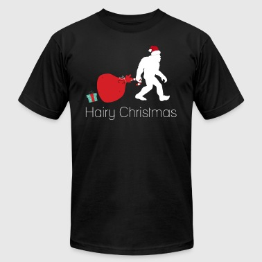 Sasquatch Christmas Hairy Christmas | Bigfoot Sasquatch - Men's Fine Jersey T-Shirt