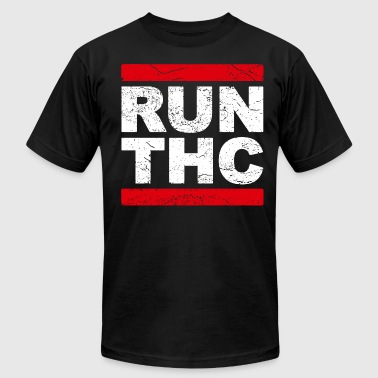 Dope Running RUN THC - Men's Fine Jersey T-Shirt