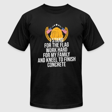 Concrete Construction Workers Concrete Flag Shirt Concreter Construction Worker - Men's Fine Jersey T-Shirt
