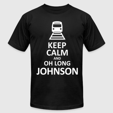 Keep Calm and Oh Long Johnson (Black) - Men's Fine Jersey T-Shirt