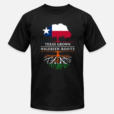 Niamey Texan Grown with Nigerian Roots - Men's Fine Jersey T-Shirt
