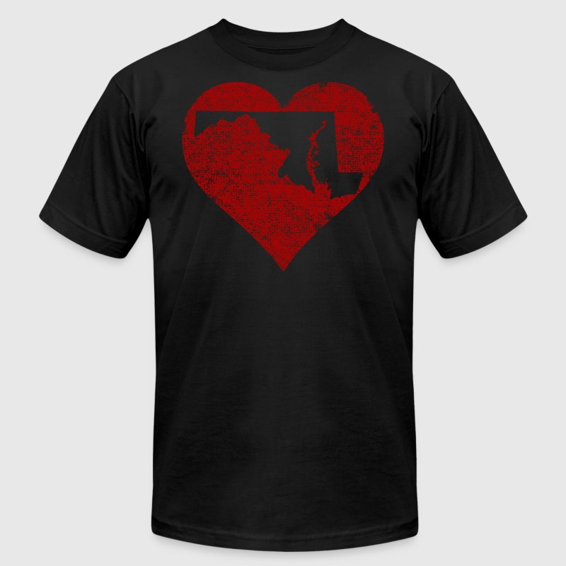 Maryland Heart Clothing Apparel Shirts - Men's Fine Jersey T-Shirt