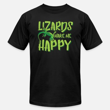 Tropic-thunder Lizards make me Happy - fun pun zookeeper - Men's Fine Jersey T-Shirt