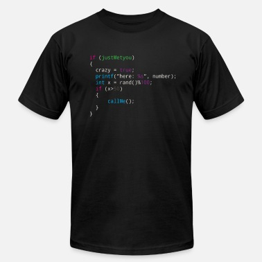 Source Code Programmer Dating source code for your number - Men's  Jersey T-Shirt