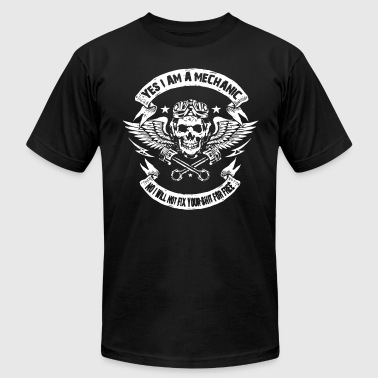 Bobber Yes I Am A Mechanic No I Will Not Fix Your Shit Fo - Men's Fine Jersey T-Shirt