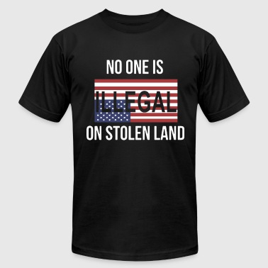 no one is illegal on stolen land america - Men's Fine Jersey T-Shirt