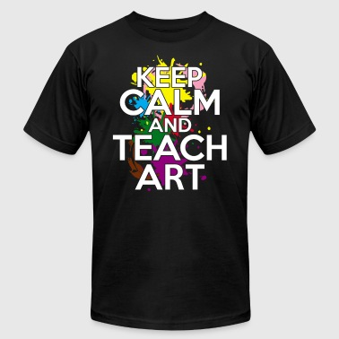 Keep Calm And Teach Art KEEP CALM TEACH ART TEE SHIRT - Men's Fine Jersey T-Shirt