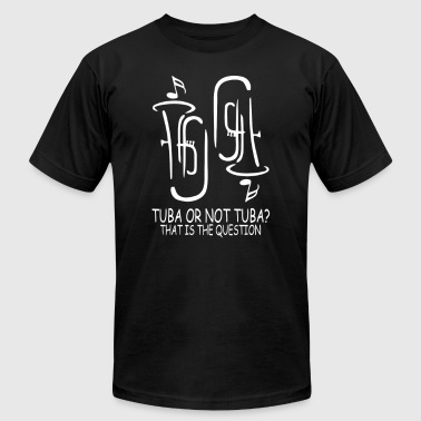 Tuba Humor Tuba Or Not Tuba That Is The Question - Men's Fine Jersey T-Shirt
