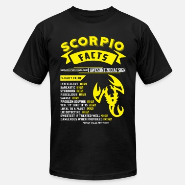 Zodiac Scorpio Scorpio Facts Zodiac - Men's  Jersey T-Shirt