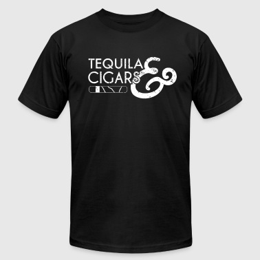 Tequila And Cigars Cigar Lover Gift Cigar Smoker - Men's Fine Jersey T-Shirt