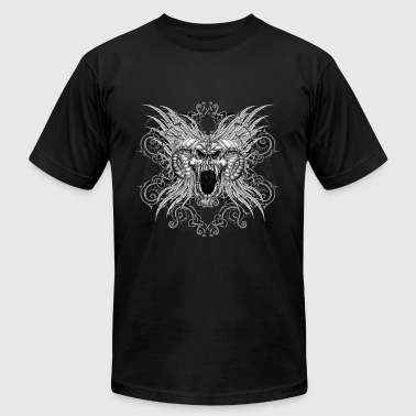 Skull Ram Head - Men's Fine Jersey T-Shirt