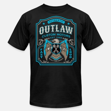 Biker Outlaw Outlaw Motors - Men's  Jersey T-Shirt