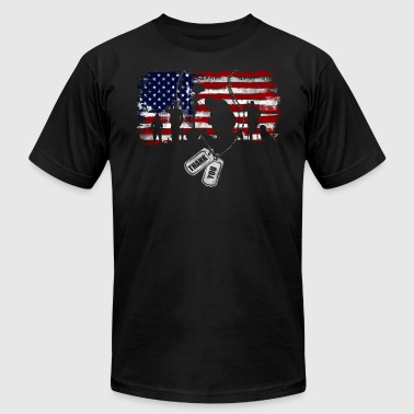 No Tag Thank you Veterans Day American Flag 4th of July - Men's Fine Jersey T-Shirt