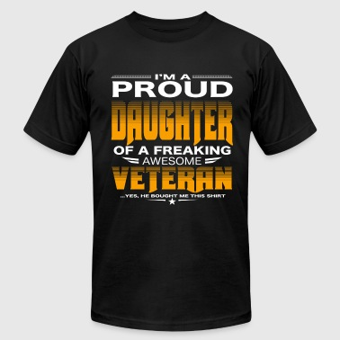 Afghanistan Veteran Daughter Daughter of a freaking awesome veteran - Men's Fine Jersey T-Shirt