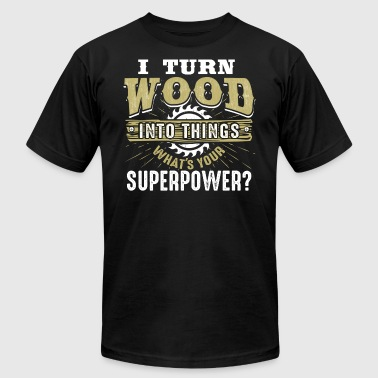 Funny Woodworking Carpenter Superpower Woodworker - Men's Fine Jersey T-Shirt
