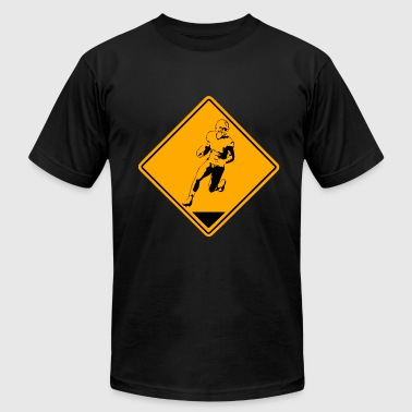 American Football American Football Road Sign - Men's Fine Jersey T-Shirt