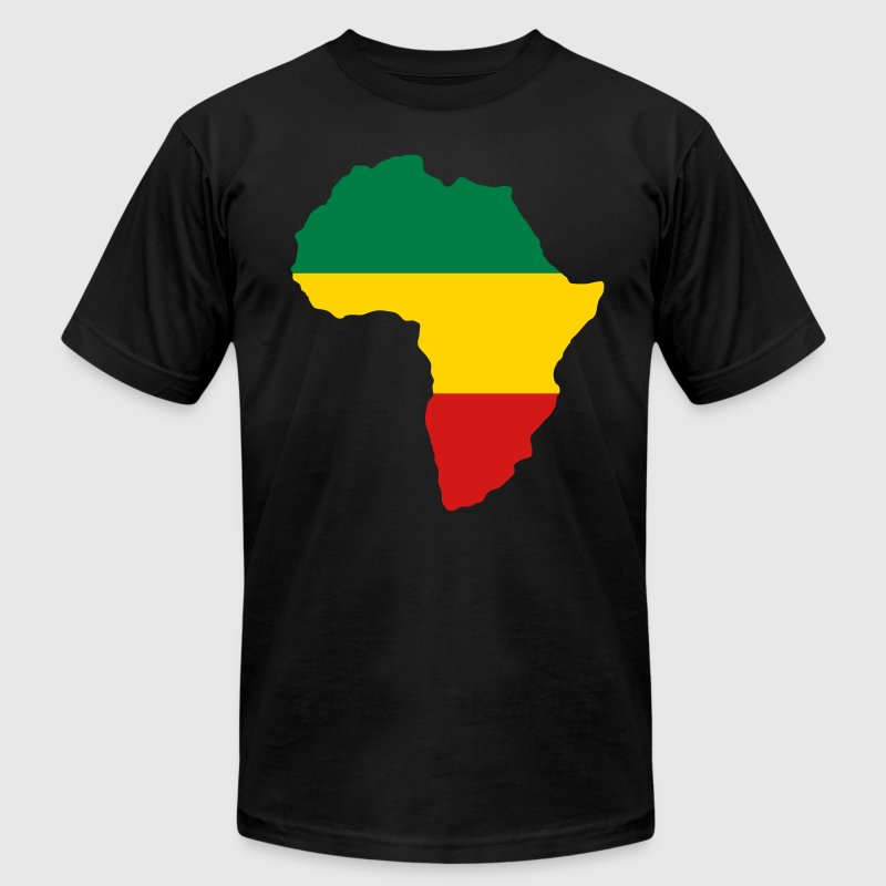 Red, Black & Green Africa Flag - Men's Fine Jersey T-Shirt