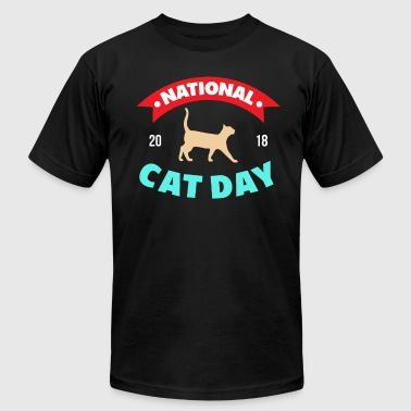 Cat Day Cats - National Cat Day 2018 - Men's Fine Jersey T-Shirt