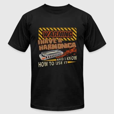 Harmonica Warning I Have A Harmonica Shirts - Men's Fine Jersey T-Shirt