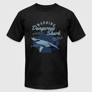 Warning Sharks Warning Dangerous Shark - Men's Fine Jersey T-Shirt
