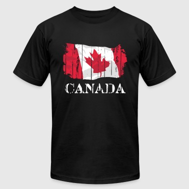 Maple Leaf - Canada Vintage Flag - Men's Fine Jersey T-Shirt