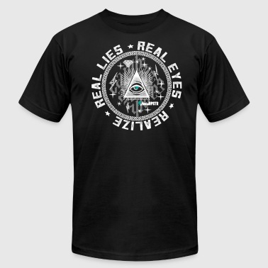 Anti-illuminati Real Eyes illuminati - Men's Fine Jersey T-Shirt
