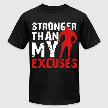 Stronger than my excuses - Men's Fine Jersey T-Shirt