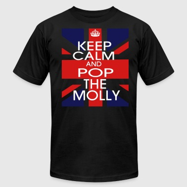 KEEP CALM AND POP THE MOLLY - Men's Fine Jersey T-Shirt