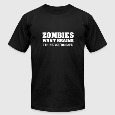 Undead Insults Zombie Zombies Brains Zombie Apocalypse Insult - Men's Fine Jersey T-Shirt