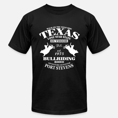 Rodeo Texas Bullriding Rodeo - The Lone Star State - Men's Fine Jersey T-Shirt