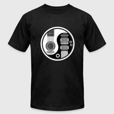 Yin Yang Guitar Yin and Yang Guitar Bass - Men's Fine Jersey T-Shirt