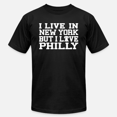215 Philly Apparel Live New York Love Philly - Men's  Jersey T-Shirt