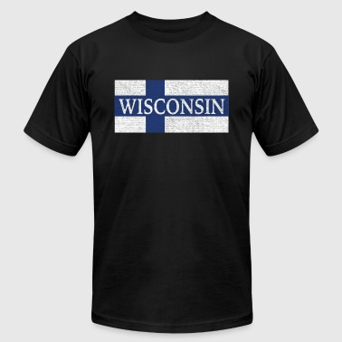 Wisconsin Finland Finnish Flag - Men's Fine Jersey T-Shirt