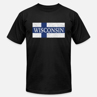 Finnish Finland Wisconsin Finland Finnish Flag - Men's  Jersey T-Shirt