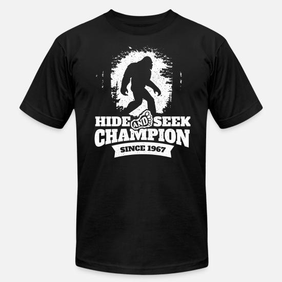 c8643b6b0 Snowman T-Shirts - Bigfoot Sasquatch Yeti Hide & Seek Nerd Nerdy Gift -  Men's