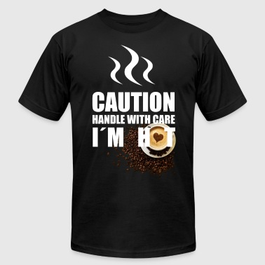 Caution I'm Hot - Men's Fine Jersey T-Shirt