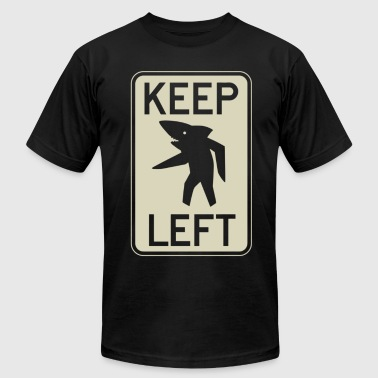Shark Crown Keep Left Shark - Men's Fine Jersey T-Shirt