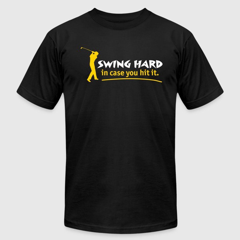 Swing Hard - Men's Fine Jersey T-Shirt