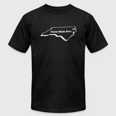 North NORTH CAROLINA - WORST STATE EVER - Men's Fine Jersey T-Shirt