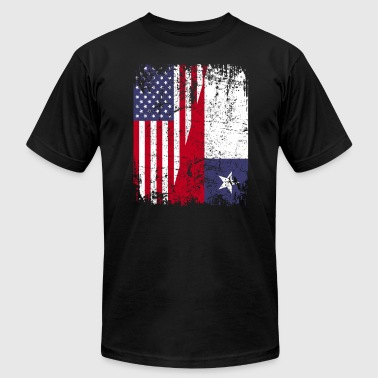 CHILEAN ROOTS | American Flag | CHILE - Men's Fine Jersey T-Shirt