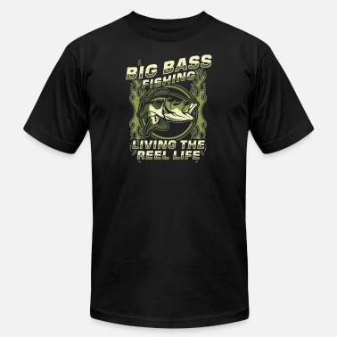 Bass Fisher Fisher! Angler! Bass! funny! - Men's Fine Jersey T-Shirt